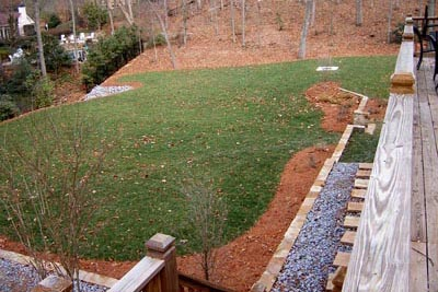 After Pool Fill-in - Landscaped Yard